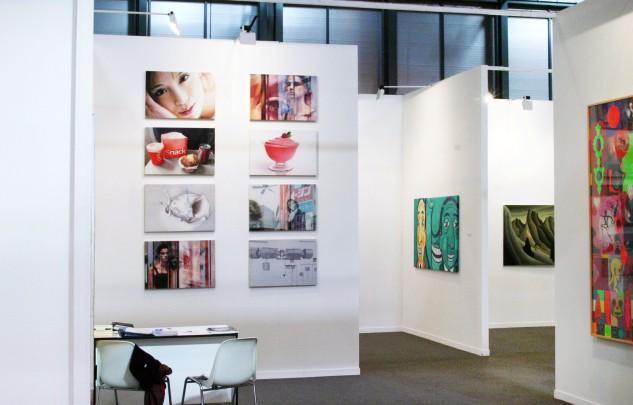 Susanne Wehmer, montaje de 8 cuadros de 50x75cm cada uno, ARCO 2004 (con la Galería Siboney, Santander)